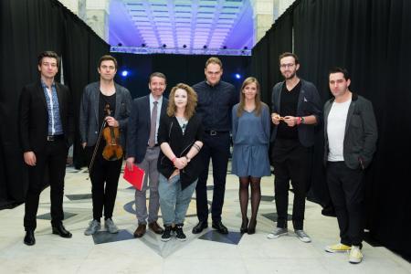 Od lewej Grzegorz Piasecki, Mateusz Smoczyński, Marek Romański, Mariola Borowska, Tomasz Wendt, Asia Pieczykolan, Krzysztof Lenczowski, Dawid Lubowicz fot. Rafał Nowak